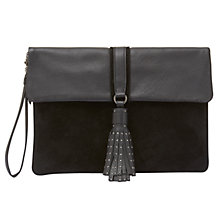 Buy Mint Velvet Belle Suede Stud Tassel Clutch Bag Online at johnlewis.com