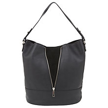 Buy Mint Velvet Beth Leather Drop Zip Hobo Bag Online at johnlewis.com