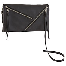 Buy Mint Velvet Lillia Leather Triple Zip Cross Body Bag, Black Online at johnlewis.com