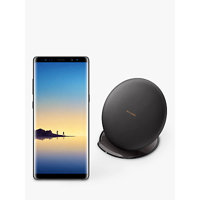 Image of Samsung Galaxy Note8 Smartphone, Android, 6.3, 4G LTE, SIM Free, 64GB, with Samsung Wireless Charger