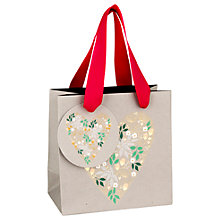 Buy Sara Miller Floral Heart Gift Bag, Mini Online at johnlewis.com