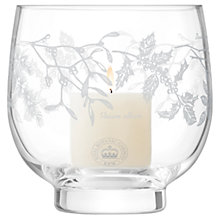 Buy Kew Royal Botanic Gardens Woodland Garland Storm Lantern Candle Holder, Clear, H17cm Online at johnlewis.com