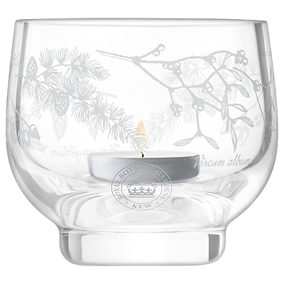 Kew Royal Botanic Gardens Woodland Garland Tealight Holder, Clear