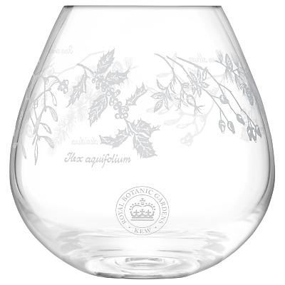 Kew Royal Botanic Gardens Woodland Garland Vase, Clear, H15cm