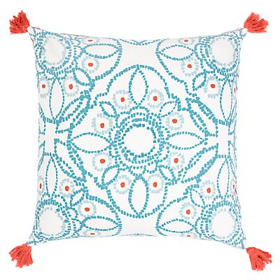 John Lewis Kasmanda Reversible Showerproof Outdoor Cushion, Multi