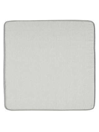 Buy John Lewis & Partners Mix 'N' Match Plain Outdoor Seat Pad Cushion, Set of 2, Grey Online at johnlewis.com