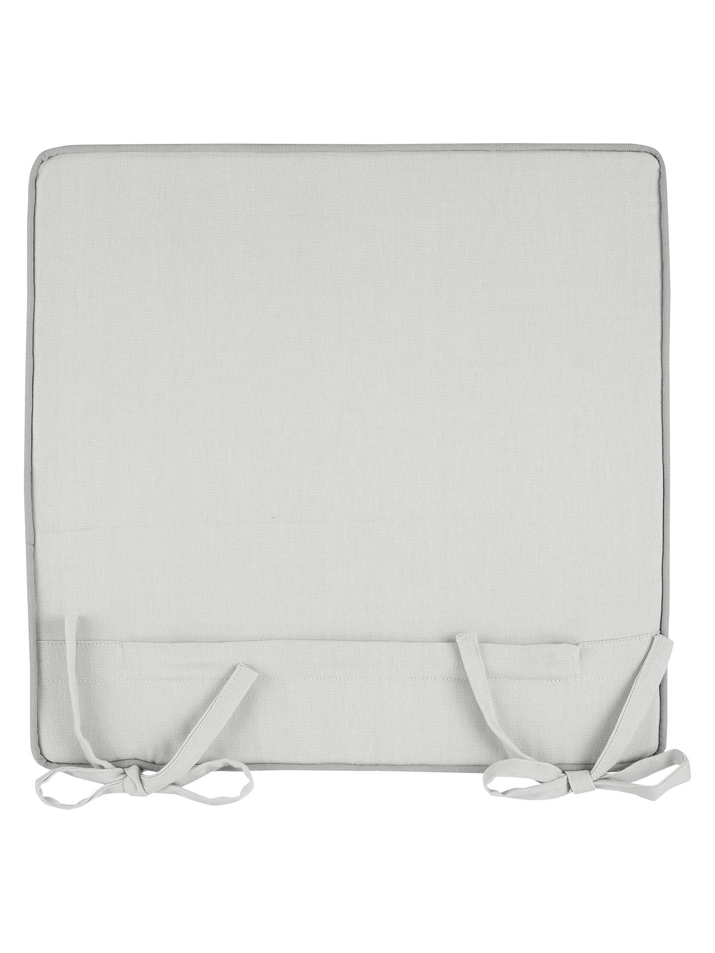 Buy John Lewis & Partners Mix 'N' Match Plain Outdoor Seat Pad Cushion, Putty, Set of 2 Online at johnlewis.com