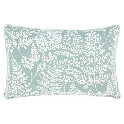 John Lewis & Partners Fern Rectangular Showerproof Outdoor Cushion, Green