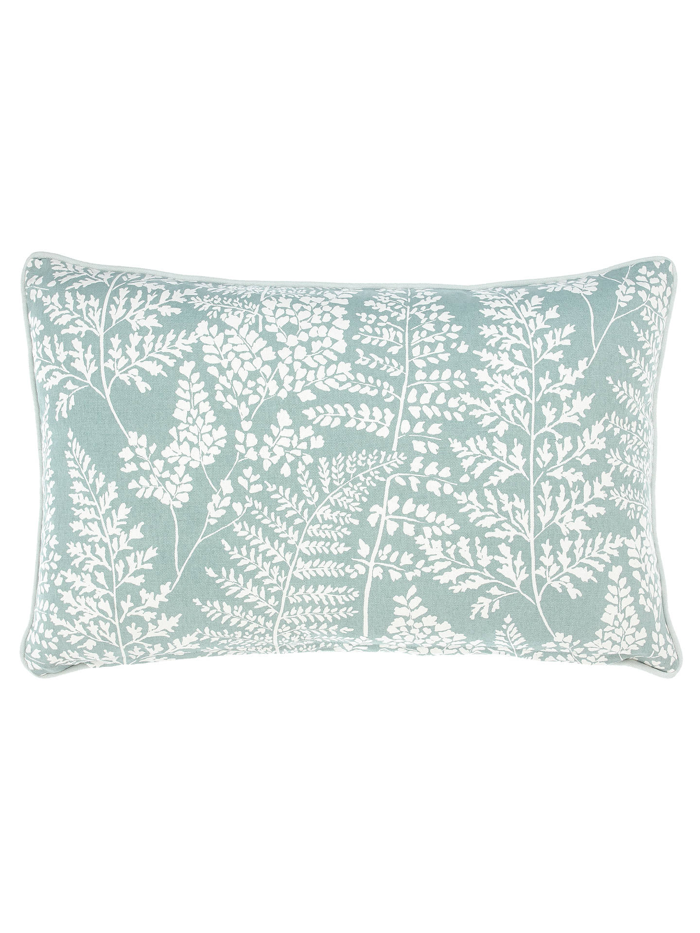 BuyJohn Lewis & Partners Fern Rectangular Showerproof Outdoor Cushion, Green Online at johnlewis.com