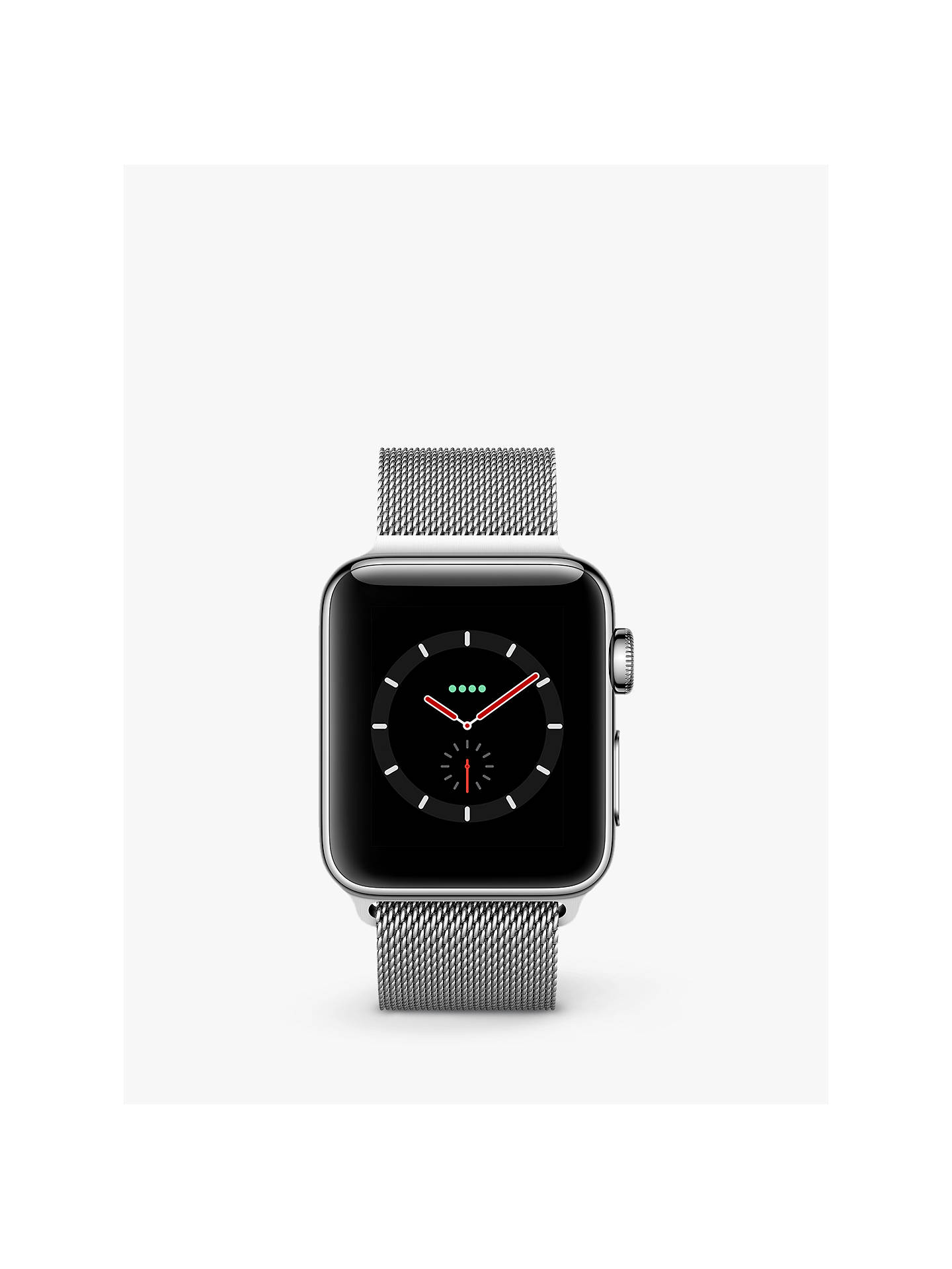 BuyApple Watch Series 3, GPS and Cellular, 38mm Stainless Steel Case with Milanese Loop, Silver Online at johnlewis.com