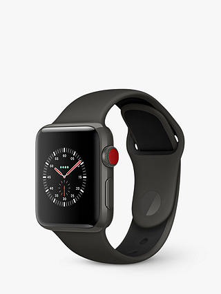 Buy Apple Watch Edition, GPS and Cellular, 38mm Grey Ceramic Case with Sport Band, Grey / Black Online at johnlewis.com