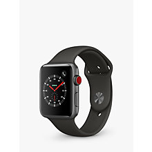 Buy Apple Watch Series 3, GPS and Cellular, 42mm Space Grey Aluminium Case with Sport Band, Grey Online at johnlewis.com