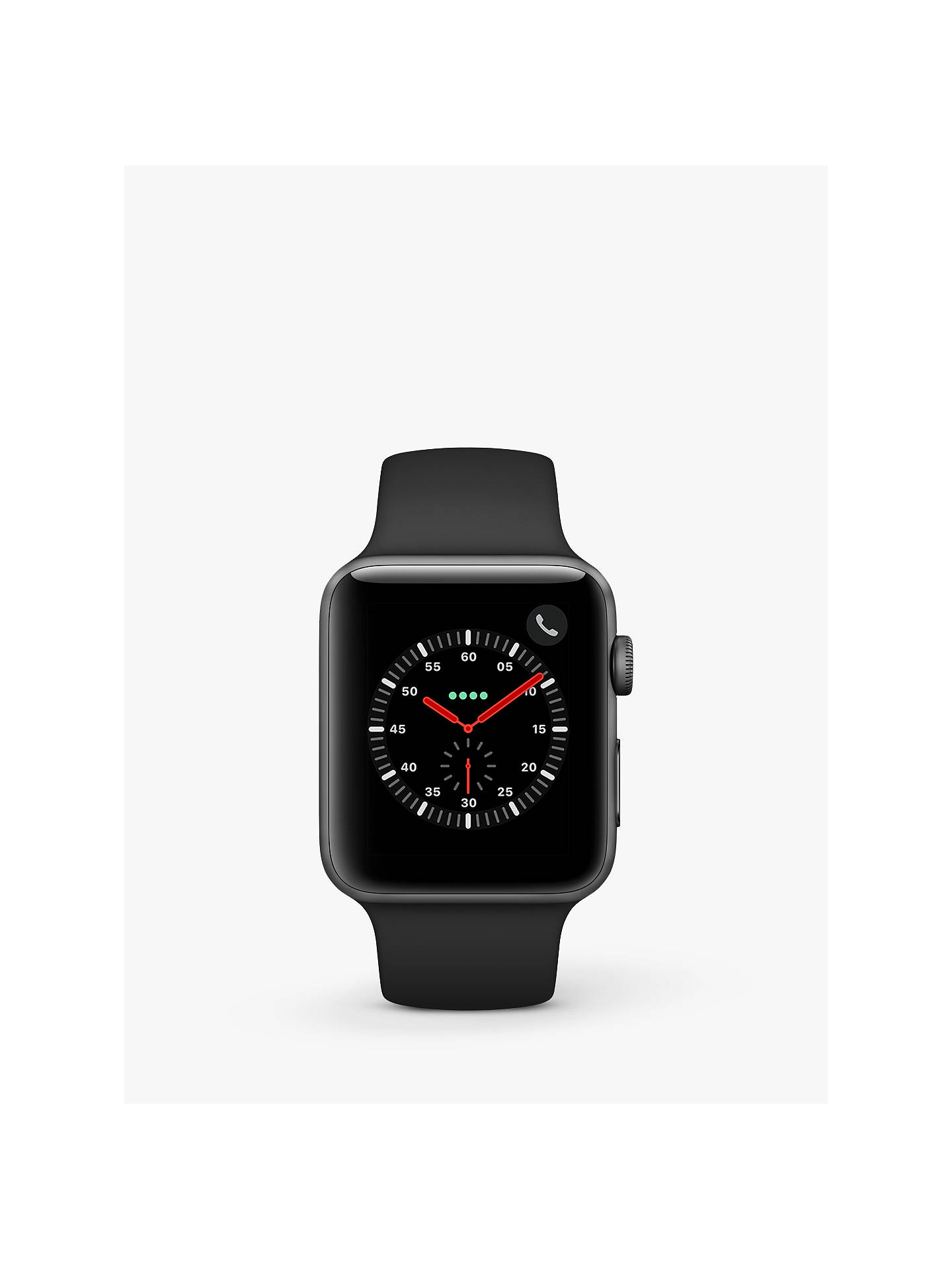 Buy Apple Watch Series 3, GPA and Cellular, 42mm Space Grey Aluminium Case with Sport Band, Black Online at johnlewis.com