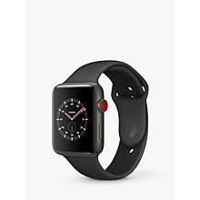 Buy Apple Watch Edition, GPS and Cellular, 42mm Grey Ceramic Case with Sport Band, Grey / Black Online at johnlewis.com