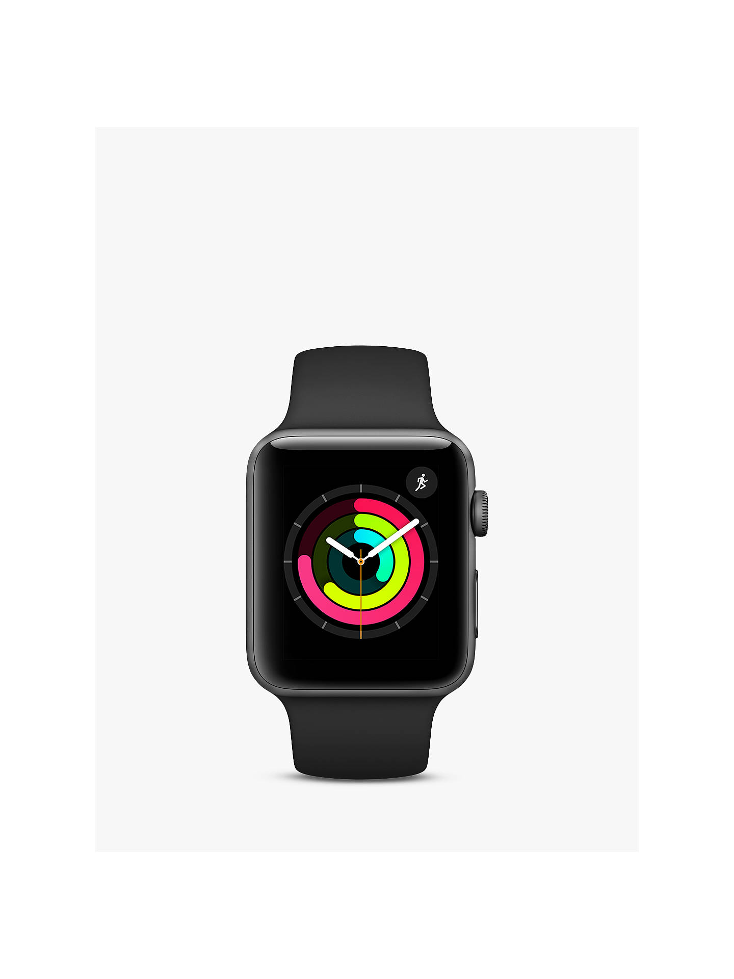 BuyApple Watch Series 3, GPS, 42mm Space Grey Aluminium Case with Sport Band, Black Online at johnlewis.com