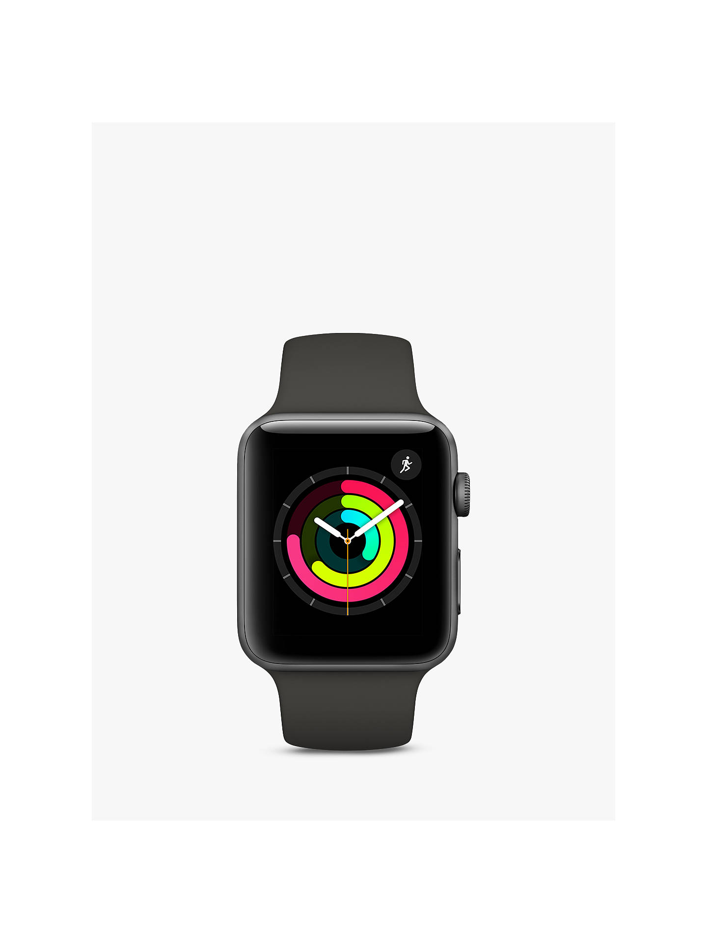 Buy Apple Watch Series 3, GPS, 42mm Space Grey Aluminium Case with Sport Band, Grey Online at johnlewis.com