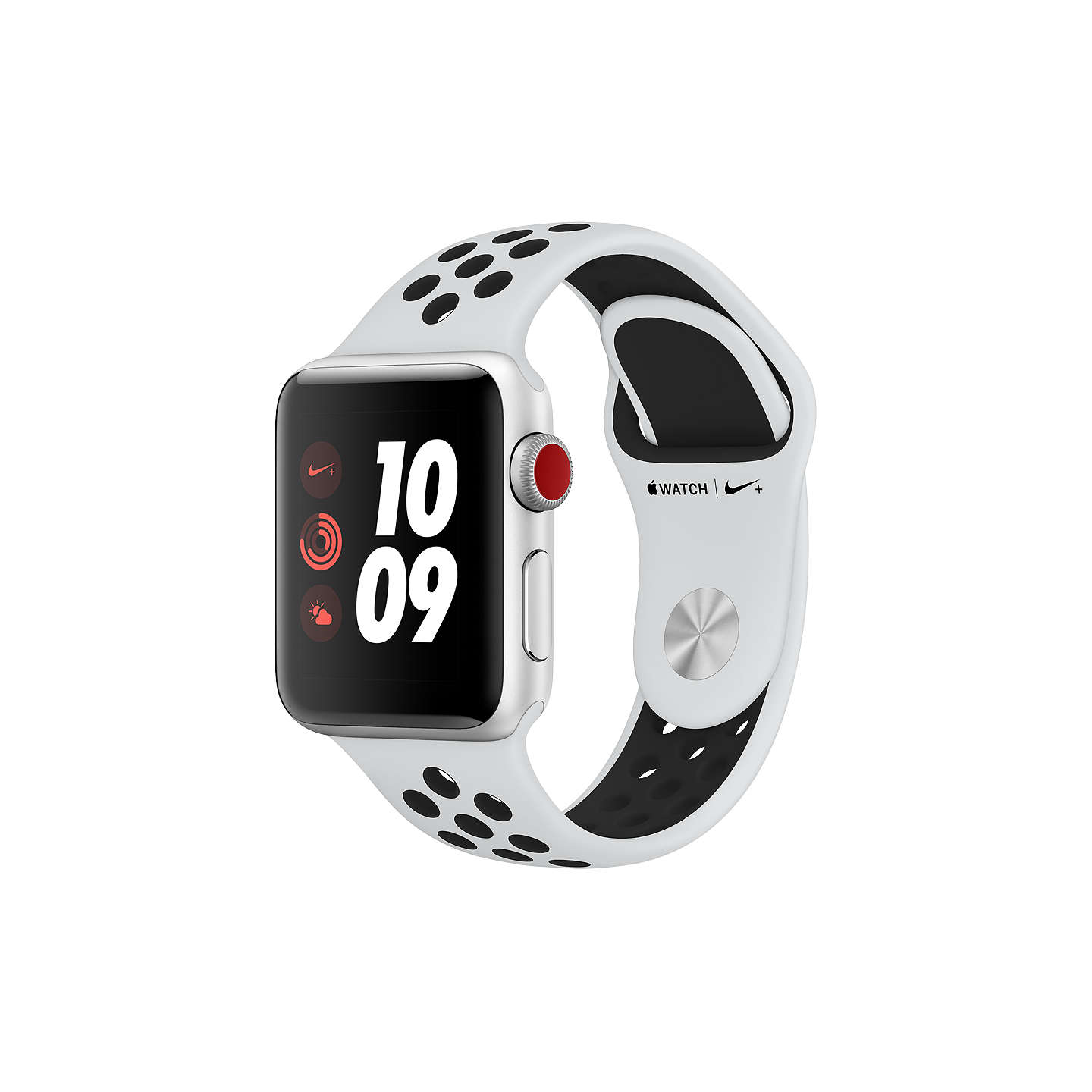BuyApple Watch Nike+, GPS and Cellular, 38mm Silver Aluminium Case with Nike  Sport Band ...