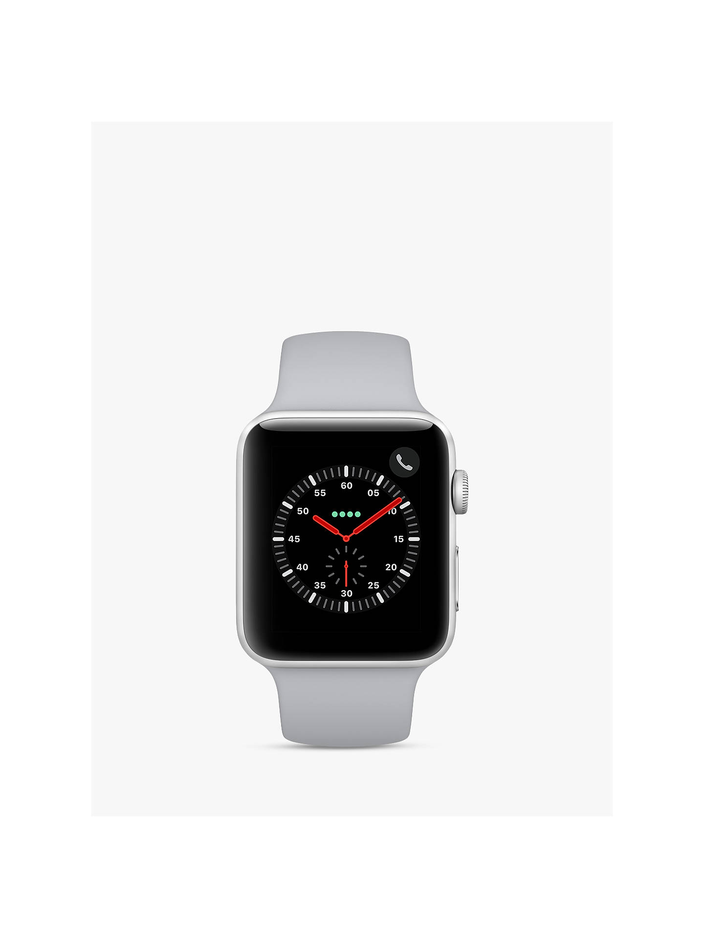 Buy Apple Watch Series 3, GPS and Cellular, 42mm Silver Aluminium Case with Sport Band, Fog Online at johnlewis.com