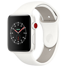 Buy Apple Watch Edition, GPS and Cellular, 42mm White Ceramic Case with Sport Band, Soft White / Pebble Online at johnlewis.com