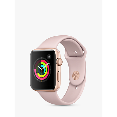 Apple Watch Series 3, GPS, 42mm Gold Aluminium Case with Sport Band, Pink Sand