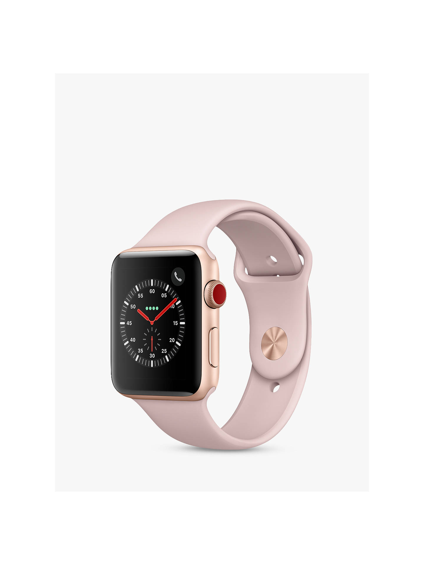 BuyApple Watch Series 3, GPS and Cellular, 42mm Gold Aluminium Case with Sport Band loop, Pink Sand Online at johnlewis.com