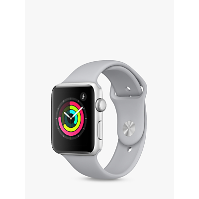 Apple Watch Series 3, GPS, 42mm Silver Aluminium Case with Sport Band, Fog