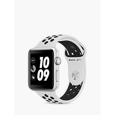 Apple Watch Nike+, GPS, 42mm Silver Aluminium Case with Nike Sport Band, Pure Platinum / Black