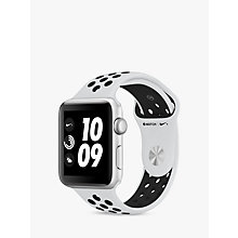 Buy Apple Watch Nike+, GPS, 42mm Silver Aluminium Case with Nike Sport Band, Pure Platinum / Black Online at johnlewis.com