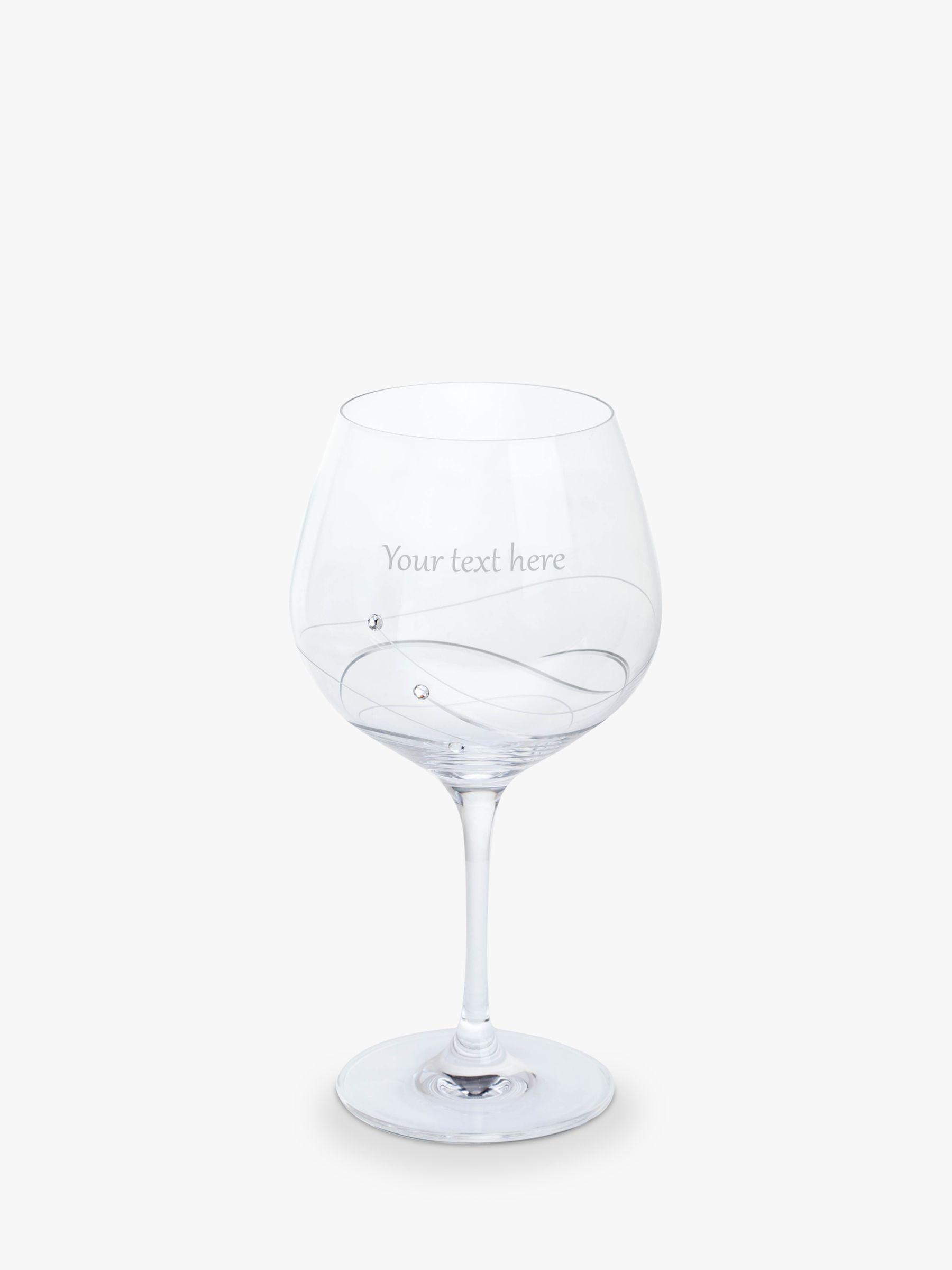 Dartington Crystal Dartington Crystal Personalised Glitz Gin and Tonic Copa (Single) Glass, 610ml, Gabriola Font