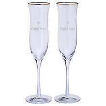 Buy Dartington Crystal Personalised Celebration Champagne Flutes, Gabriola Font, 200ml, Set of 2 Online at johnlewis.com