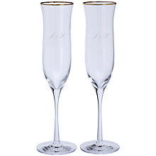 Buy Dartington Crystal Personalised Celebration Champagne Flutes, Palace Script Font, 200ml, Set of 2 Online at johnlewis.com
