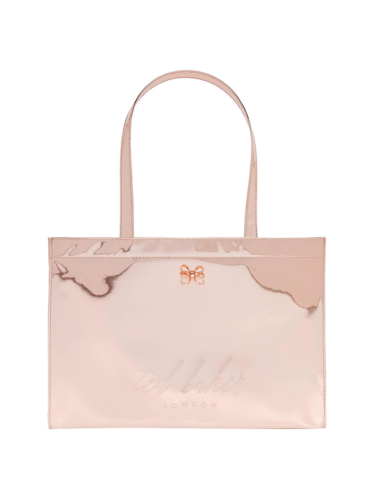 faddda162 Ted Baker Laucon Mirrored E W Icon Shopper Bag at John Lewis   Partners