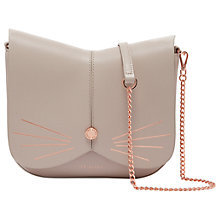 Buy Ted Baker Kitti Cat Leather Across Body Bag, Taupe Online at johnlewis.com