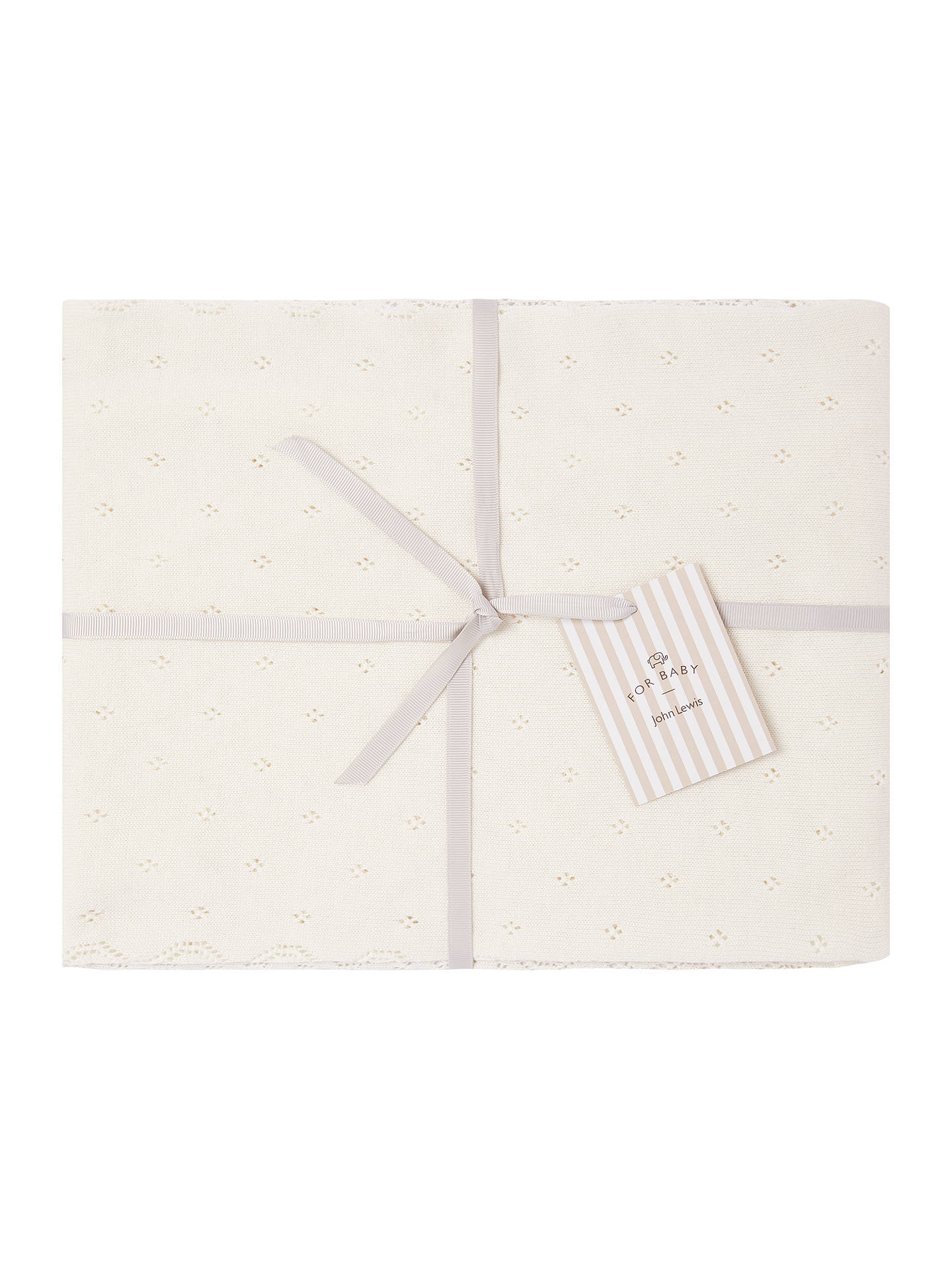 John Lewis Partners Baby Shawl Off White At John Lewis Partners