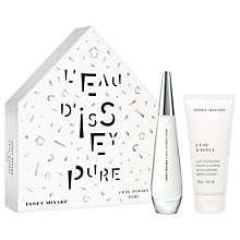 Buy Issey Miyake L'Eau d'Issey Pure 50ml Eau de Toilette Fragrance Gift Set Online at johnlewis.com