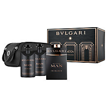 Buy Bulgari Man In Black 100ml Eau de Parfum Fragrance Gift Set Online at johnlewis.com