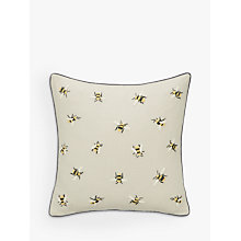 Buy John Lewis Bee Cushion, Grey Online at johnlewis.com