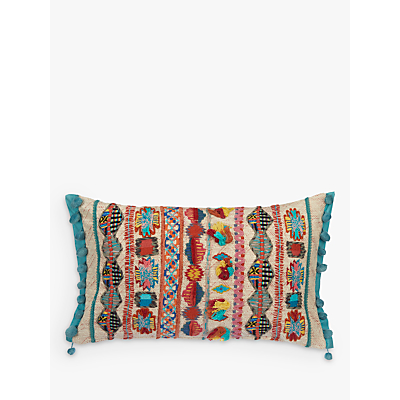 John Lewis Kanha Embroidery Cushion, Multi