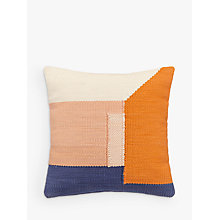 Buy House by John Lewis Block Weave Cushion, Multi Online at johnlewis.com