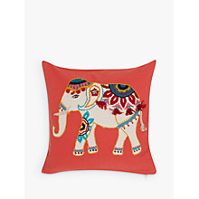 Buy John Lewis Marigold Elephant Cushion, Paprika Online at johnlewis.com