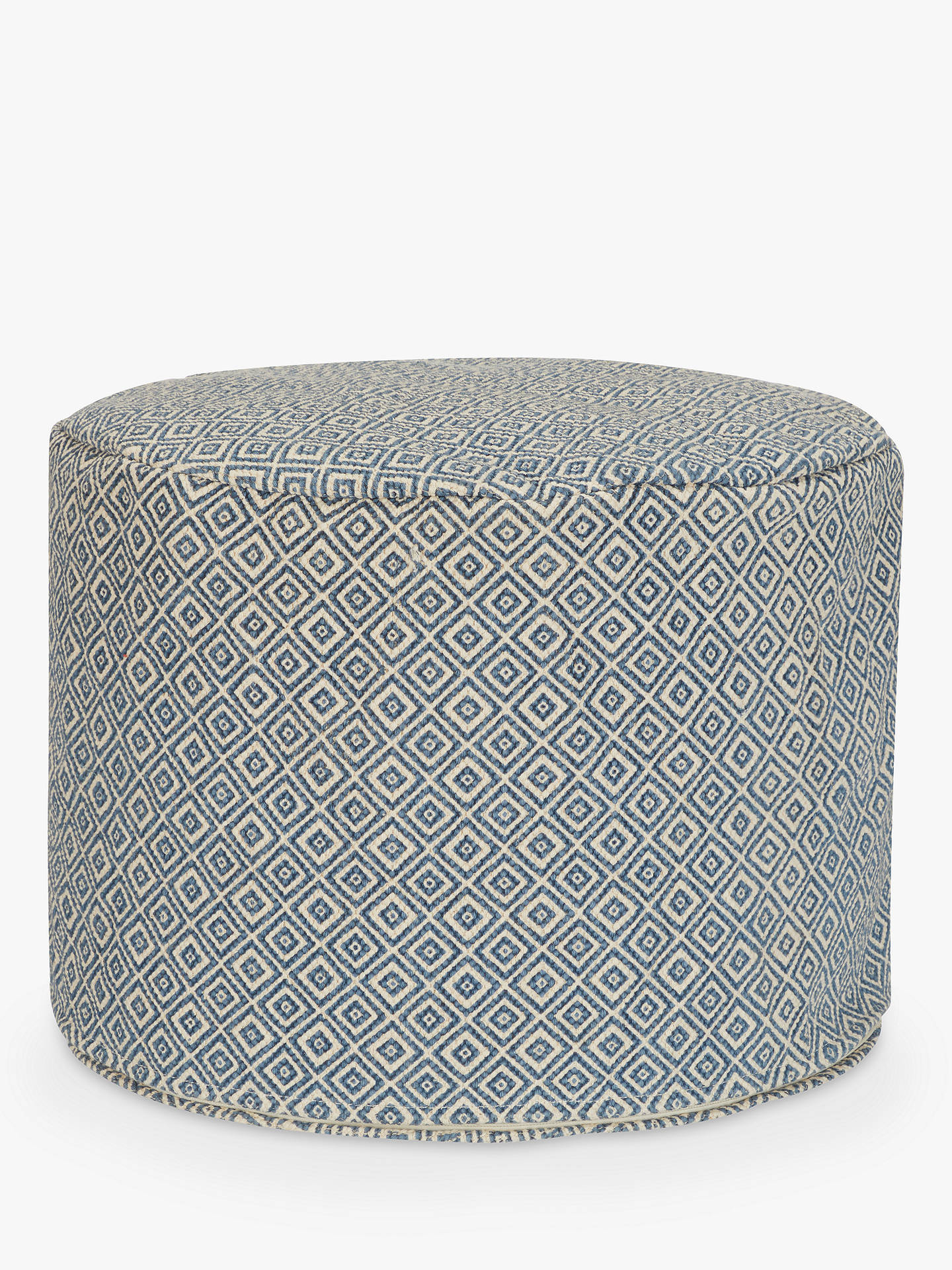 BuyJohn Lewis & Partners Diamond Round Pouffe, Blue Online at johnlewis.com