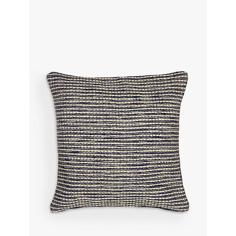 Buy John Lewis Coastal Stripe Floor Cushion Blue Online At Johnlewis