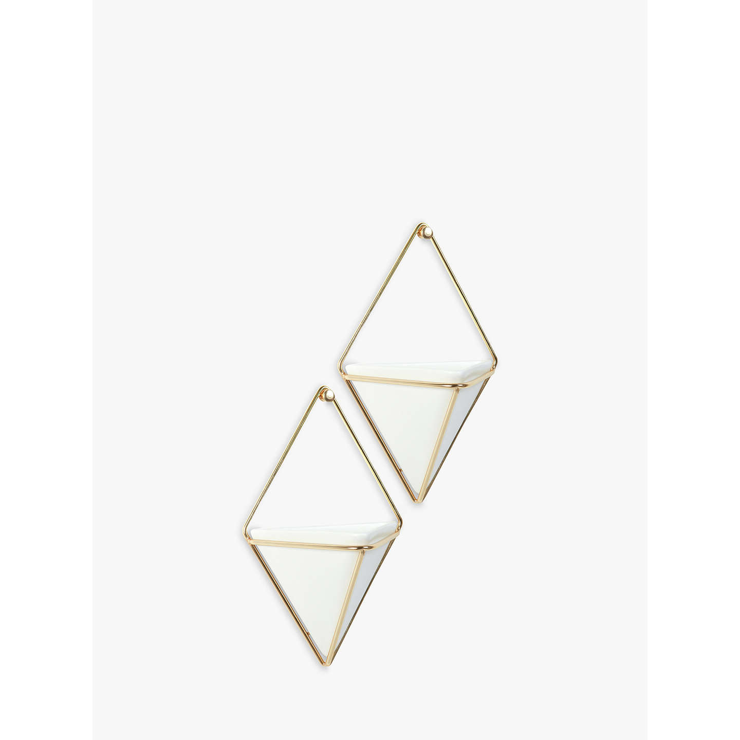 Buy Umbra Trigg Small Wall Planters, White, Set of 2 Online at johnlewis.com