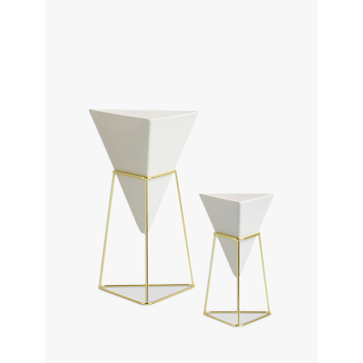 BuyUmbra Trigg Freestanding Vase, White, Set of 2 Online at johnlewis.com