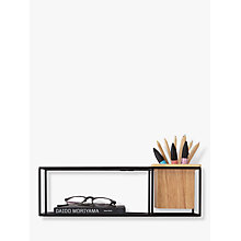 Buy Umbra Cubist Small Shelf, Black Online at johnlewis.com