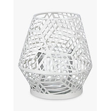 Buy John Lewis Geometric Tealight Holder, White Online at johnlewis.com