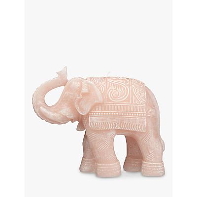 John Lewis Elephant Candle, Pink