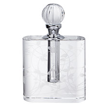 Buy John Lewis Etch Floral Perfume Bottle, Clear Online at johnlewis.com