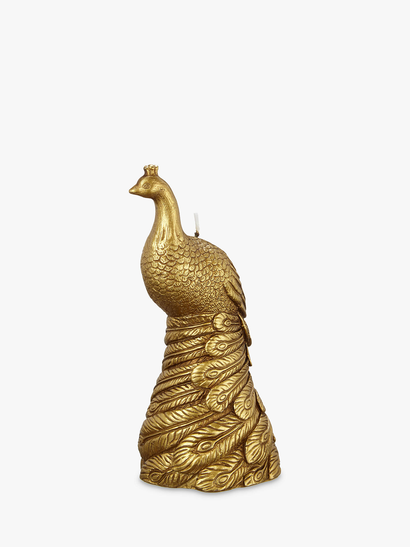 BuyJohn Lewis Peacock Candle, Gold Online at johnlewis.com