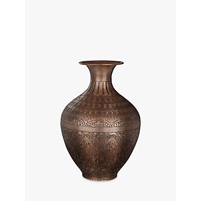 John Lewis Large Metal Urn, Antique Copper